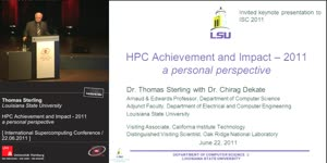 Miniaturansicht - Wednesday Keynote: HPC Achievement & Impact 2011