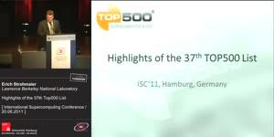 Miniaturansicht - Highlights of the 37th TOP500 List