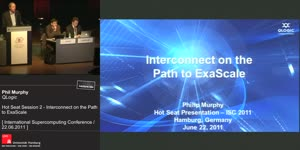 Miniaturansicht - Hot Seat Session 2 - Interconnect on the Path to ExaScale
