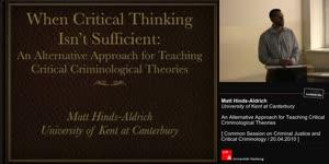 Miniaturansicht - An Alternative Approach for Teaching Critical  Criminological Theories