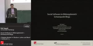 Thumbnail - Social Software im Bildungsbereich – Schwerpunkt Blogs