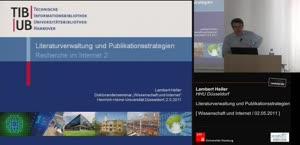 Miniaturansicht - Literaturverwaltung und Publikationsstrategien