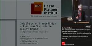 Thumbnail - Dr. Harald Sack: Wie Sie schon immer finden wollten, was Sie noch nie gesucht haben - Paradigmenwechsel in der Informationssuche
