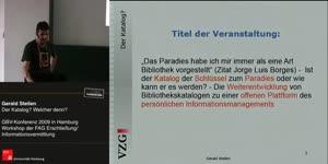 Thumbnail - Gerald Steilen: Der Katalog? Welcher denn?