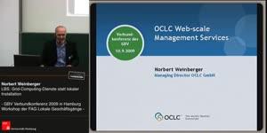 Thumbnail - Norbert Weinberger: LBS: Grid-Computing-Dienste statt lokaler Installation
