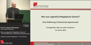 Miniaturansicht - Wer war eigentlich Magdalene Schoch? – Eine Einführung in historische Spurensuche