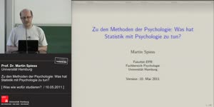 Miniaturansicht - Zu den Methoden der Psychologie: Was hat Statistik mit Psychologie zu tun?