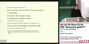 Vorschaubild - Hat sich die Mauer für die DDR